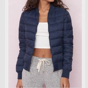 GARAGE | Navy Puffer Jacket